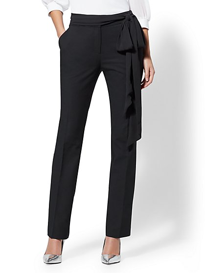 7th Avenue Pant - Petite Black Slim Leg - Modern - New York & Company