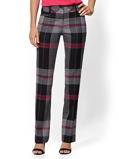 7th Avenue Pant - Petite Plaid Straight-Leg - Modern - New York & Company