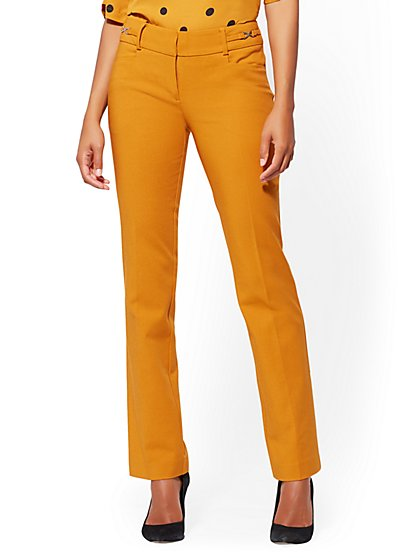 7th Avenue Pant - Petite Straight-Leg - Modern - All-Season Stretch - New York & Company