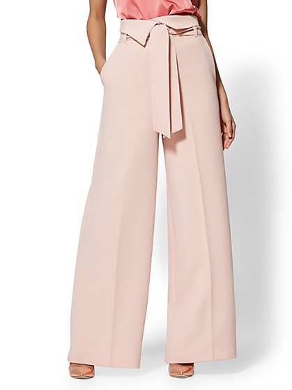 7th Avenue Pant - Pink Wide Leg - Modern - New York & Company