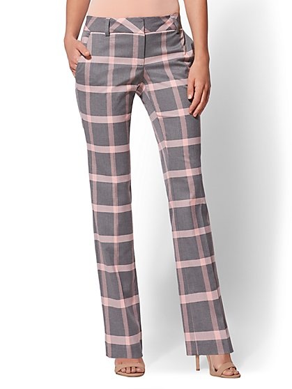 7th Avenue Pant - Plaid Straight Leg - Signature - New York & Company