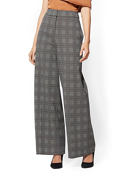 7th Avenue Pant - Plaid Wide-Leg - New York & Company
