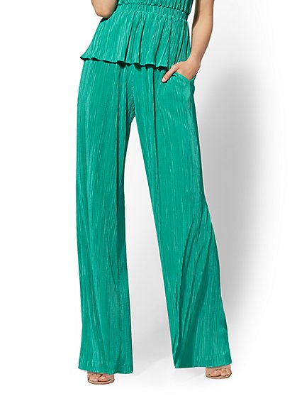 7th Avenue Pant - Pleated Wide-Leg Pant - New York & Company