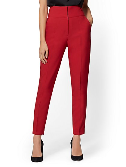 7th Avenue Pant - Red Slim Ankle - New York & Company