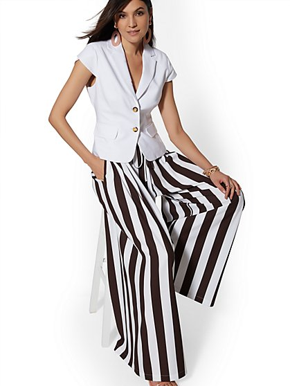 7th Avenue Pant - Stripe Palazzo - New York & Company