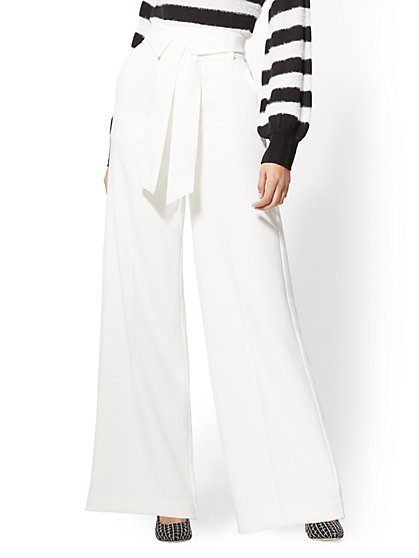 7th Avenue Pant - Tall Ivory Palazzo - New York & Company