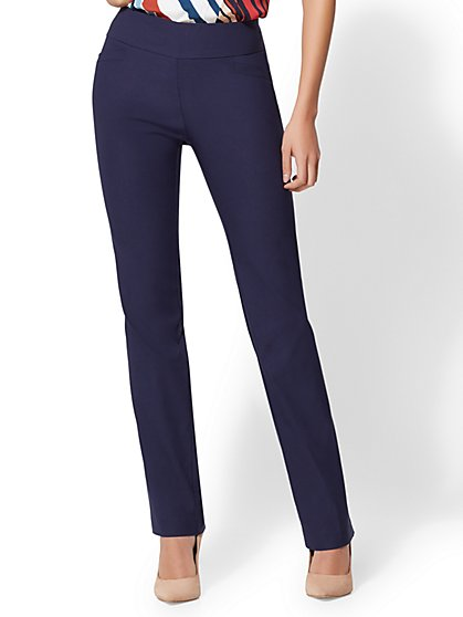 7th Avenue Pant - Tall Pull-On Straight Leg - New York & Company