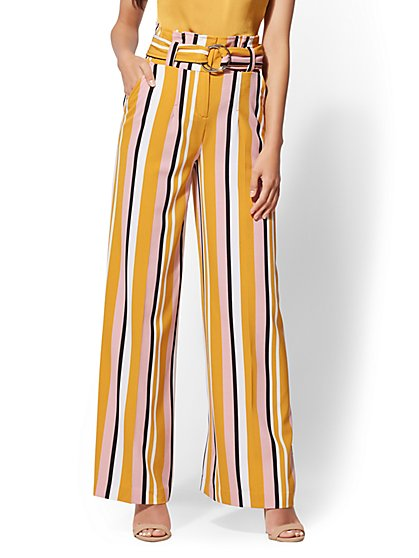 7th Avenue Pant - Tall Stripe Palazzo - New York & Company