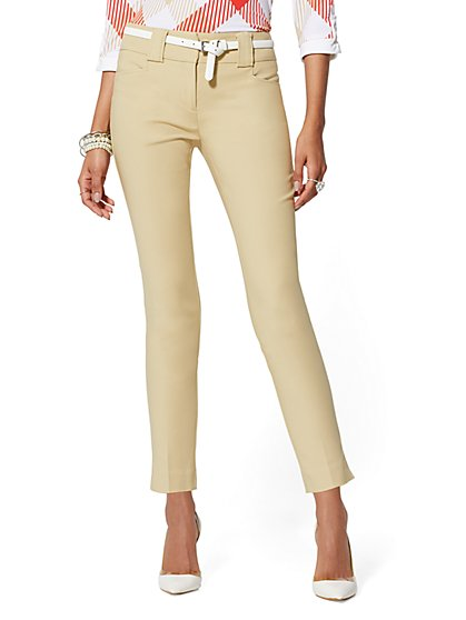 7th Avenue Pant - Tan Ankle - All-Season Stretch - New York & Company