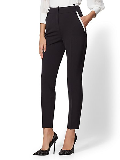 7th Avenue Pant - Tipped Slim Leg - New York & Company