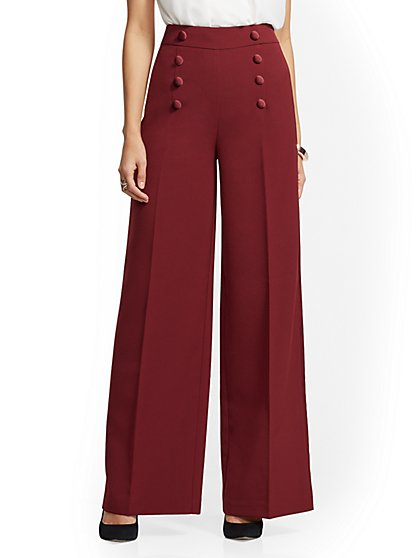 7th Avenue Pant - Tuxedo Palazzo Pant - New York & Company