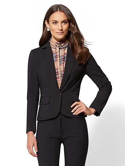 7th Avenue - Petite One-Button Jacket - All-Season Stretch - New York & Company