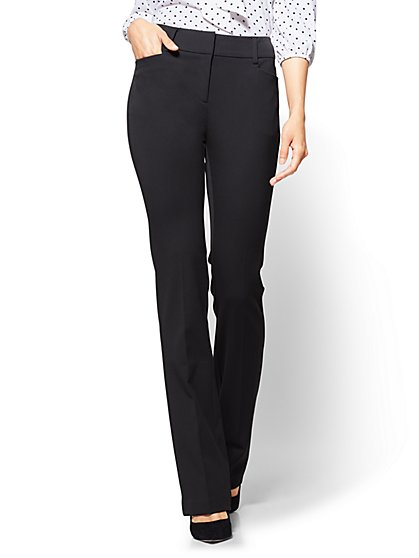 7th Avenue Petite Pant - Black Bootcut - Modern - New York & Company