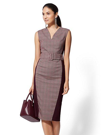 c493fce560d8 7th Avenue - Petite Plaid Sheath Dress - New York & Company ...