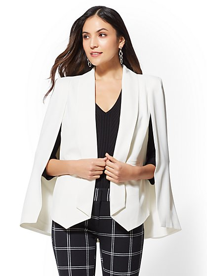 7th Avenue - Petite Soft Cape Jacket - New York & Company