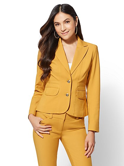 7th Avenue - Petite Two-Button Jacket - All-Season Stretch - New York & Company