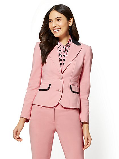 7th Avenue Pink Two-Button Jacket - All-Season Stretch - New York & Company