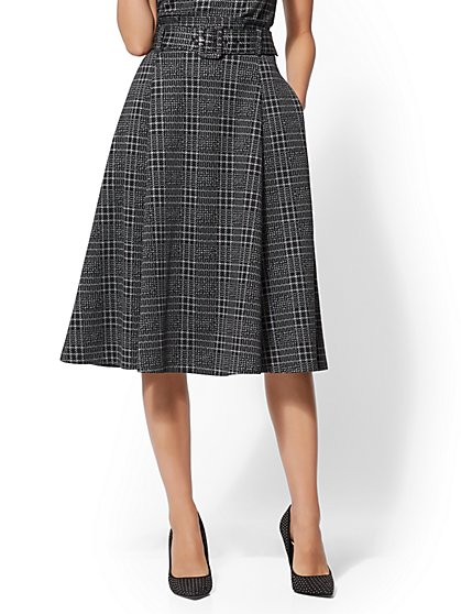 7th Avenue - Plaid Full Skirt - New York & Company
