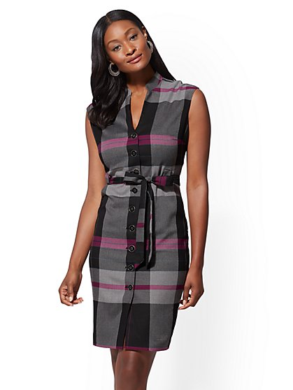 7th Avenue - Plaid Sheath Dress - New York & Company
