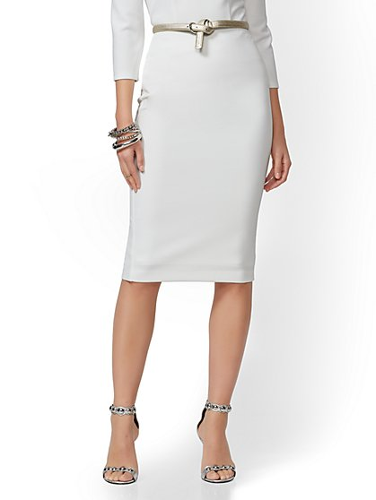 7th Avenue - Pull-On Pencil Skirt - New York & Company