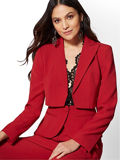 7th Avenue - Red Two-Piece Jacket - New York & Company