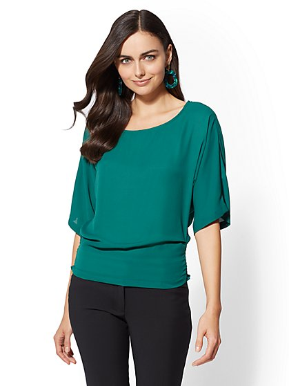 7th Avenue - Scoopneck Dolman Blouse - New York & Company