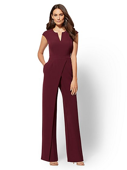 7th Avenue - Seamed Wrap Jumpsuit - New York & Company