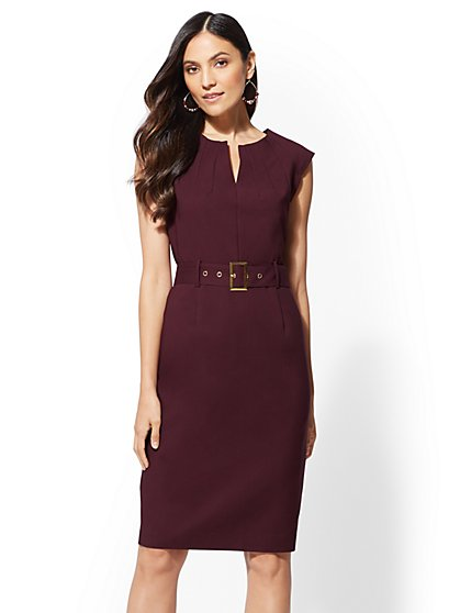 7th Avenue - Sheath Dress - All-Season Stretch - New York & Company