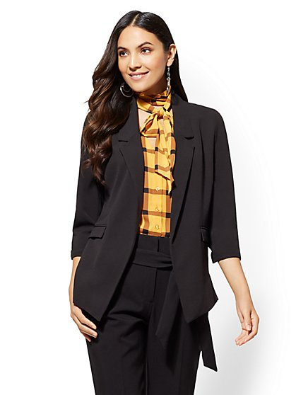7th Avenue - Soft Black Madie Blazer - New York & Company