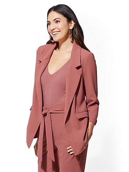 7th Avenue - Soft Pink Madie Blazer - New York & Company