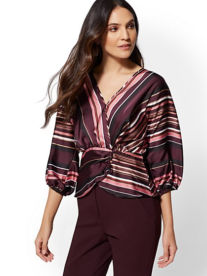 Purple Womens Blouses Work Blouses More New York Company