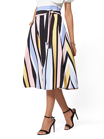 7th Avenue - Stripe Full Skirt - New York & Company