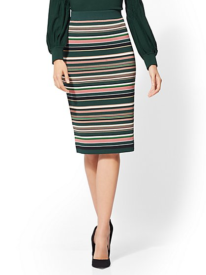 7th Avenue - Stripe Sweater Skirt - New York & Company
