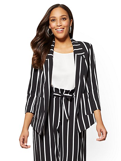 7th Avenue Striped Soft Jacket - New York & Company