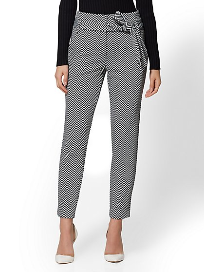 7th Avenue - Tall Black Chevron The Madie Pant - New York & Company
