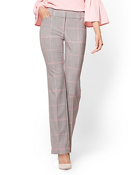 7th Avenue Tall Pant - Straight Leg - Signature - Grey Houndstooth - New York & Company