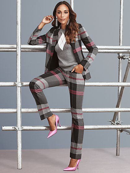 7th Avenue – Tall Plaid Jacket - New York & Company