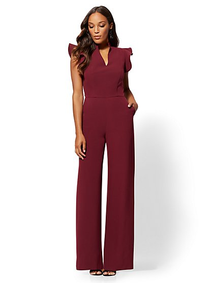 7th Avenue - Tall Ruffled-Sleeve Jumpsuit - New York & Company