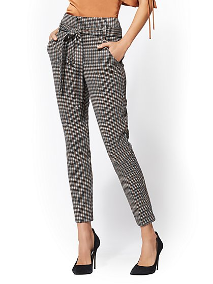 7th Avenue - Tall The Madie Pant - Plaid - New York & Company