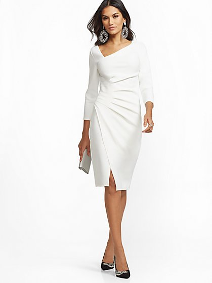 7th Avenue - Tall V-Neck Sheath Dress - New York & Company