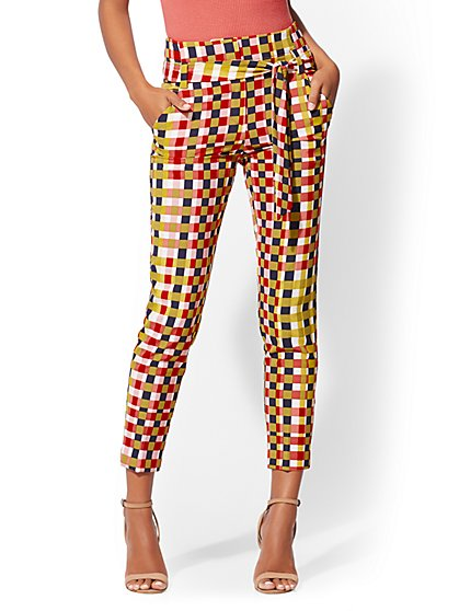 7th Avenue - The Madie Pant - Check-Print - New York & Company