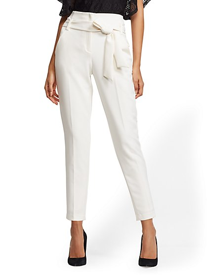 7th Avenue - The Madie Pant - Petite Ivory - New York & Company
