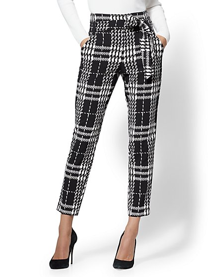 7th Avenue - The Madie Pant - Petite Plaid - New York & Company