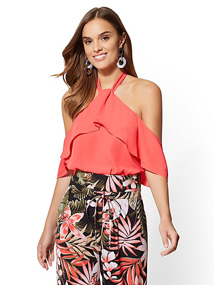 7th Avenue - Tiered Halter Blouse - New York & Company