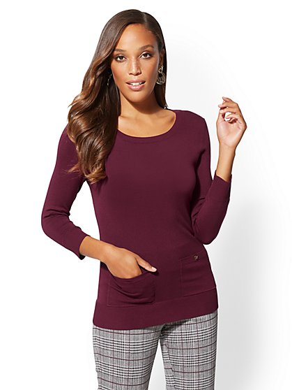 7th Avenue - Two-Pocket Sweater - New York & Company