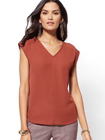 7th Avenue - V-Neck Blouse - New York & Company