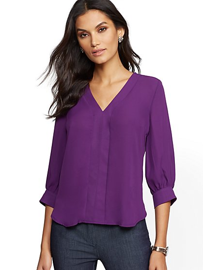 7th Avenue - V-Neck Top - New York & Company
