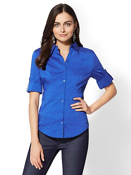 7th Avenue - Waist-Inset Madison Stretch Shirt - New York & Company