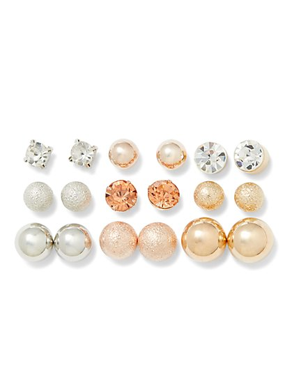 9-Piece Post Earring Set - New York & Company