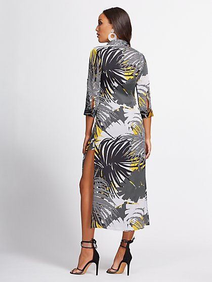 805731f586f ... Abstract-Print Shirtdress - Gabrielle Union Collection - New York &  Company